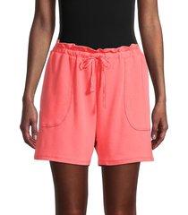 nanette lepore women's paperbag waist shorts - dubarry - size s