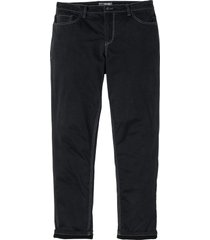 pantaloni termici in twill elasticizzato regular fit (nero) - bpc selection
