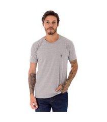 camiseta operarock t-shirt coroa cinza