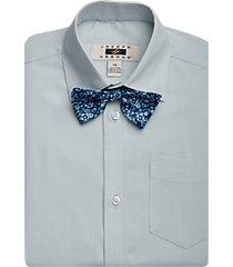 joseph abboud boys light green dress shirt & bow tie set