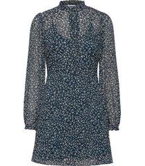 zarani ls dress aop 12888 kort klänning blå samsøe samsøe