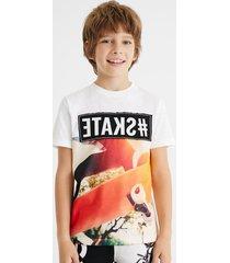 100% cotton t-shirt skate - white - 13/14