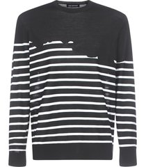 neil barrett ls stripes sweater