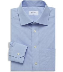 eton men's classic-fit dress shirt - blue - size 16.5