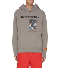 worldwide love slogan graphic hoodie