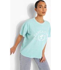 oversized overdye staycation t-shirt, mint