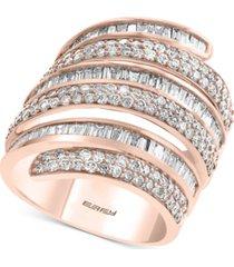 effy diamond wrap statement ring (2-1/5 ct. t.w.) in 14k rose gold