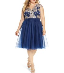 plus size women's chi chi london curve joan embroidered cocktail dress