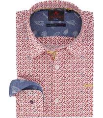 overhemd rood wit geprint nza katikati