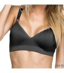 sutiã comfort preto com bojo base sem costura sut023 - feminino