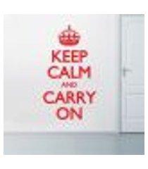 adesivo de parede - keep calm and carry - eg 140x78cm