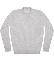 maglione da uomo, lanieri, extra fine grigio chiaro, quattro stagioni   lanieri
