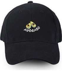 embroidery avocado letter pattern baseball cap
