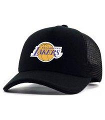 boné personalizado time de basquete los angeles lakers preto