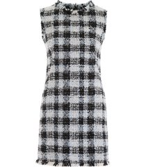 alexander mcqueen check tweed mini dress