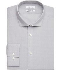 calvin klein infinite cool gray dot slim fit dress shirt