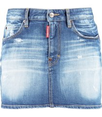 dsquared2 rammendo denim mini skirt