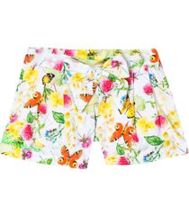 miss blumarine floreal multicolor shorts