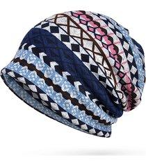 cappellino caldo da stampa di plaid da donna cappellino da cappello da esterno più sottile cappello con cappuccio in elastico antivento