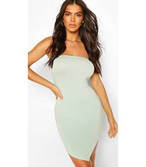 bandeau hanky hem bodycon dress, mint