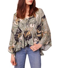 women's b.o.g. collective greenleaf ave batwing top, size x-small - ivory