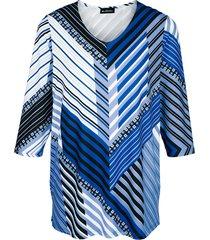 shirt m. collection royal blue::zwart::wit