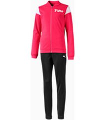 poly girls' track suit, roze, maat 104 | puma