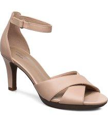 adriel cove sandal med klack beige clarks