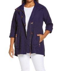 adyson parker full zip jacket, size 1x in rich navy at nordstrom