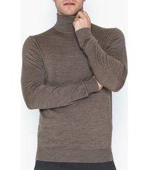 premium by jack & jones jprmark merino knit roll neck tröjor ljus grå