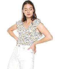 blusa blanco-multicolor active