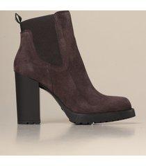 hogan heeled booties h542 chelsea hogan ankle boot in suede