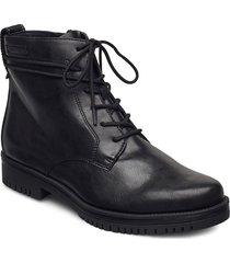 woms boots snörade skor låga svart tamaris