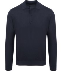 laneus long sleeve knit polo