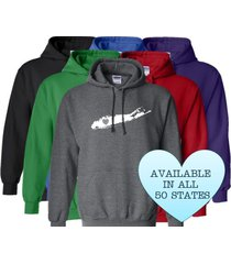 long island new york hoodie sweatshirt love home heart unisex men women state