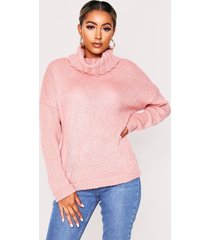 oversized turtle neck sweater, blush