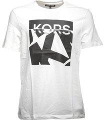 michael kors michael kors logo print t-shirt