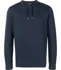 ron dorff drawstring sweatshirt - blue