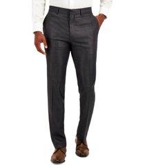 kenneth cole reaction men's techni-cole gunmetal suit separate slim-fit pants