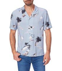 men's paige landon short sleeve button-up camp shirt