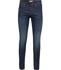 slhslim-leon 6156 d.blu su-st jns w noos slimmade jeans blå selected homme