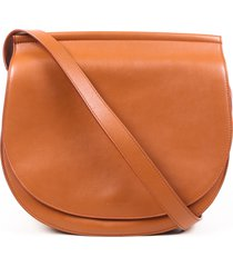 givenchy infinity saddle brown leather crossbody bag brown sz: m
