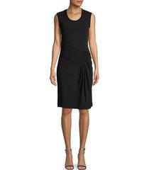 helmut lang women's pleated sheath dress - black - size xs