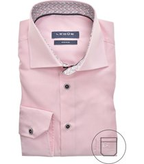 ledub overhemd mouwlengte 7 roze modern fit