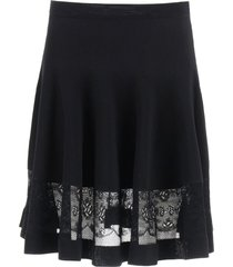 alexander mcqueen mini skirt with lace