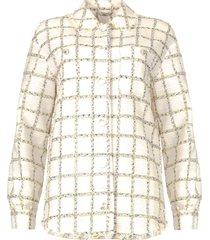 geruite bouclã© blouse mae  naturel