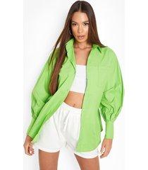 oversized boyfriend overhemd, green