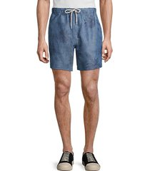drawcord palm linen-blend shorts