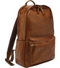 fossil men's brown buckner backpack