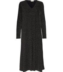 lauren, 772 glitter jersey jurk knielengte zwart stine goya